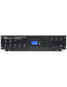 Amplificador POWER DYNAMICSPDV120ZMP3 Linea 100V con 4 Zonas 120W