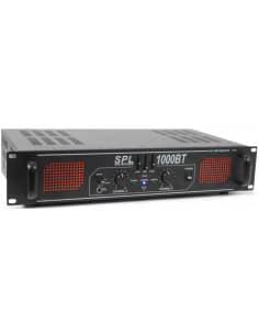 SkyTec SPL 1500BTMP3 Amplificador con LEDs Rojo + EQ Negro