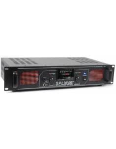 SkyTec SPL 2000BTMP3 Amplificador con LEDs rojo+EQ Negro