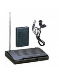 Sistema LEEM VHF Microfonía inhalambrica VHF-18 Sistema Lavalier completo
