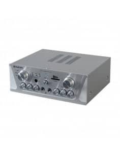SKYTEC Amplificador Karaoke FM/USB/SD Plata
