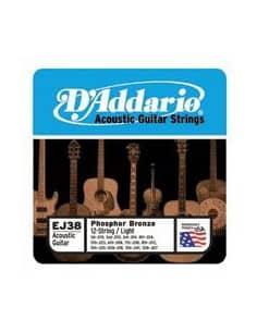Cuerdas D'addario guitarra acustica 0.12-0.53 Light