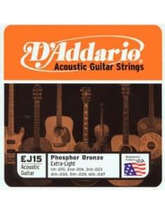 Cuerdas D'addario guitarra acustica 0.10-0.47 extra-Light
