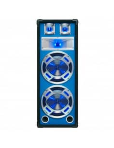 "SKYTEC Baffle 2x 8""/20cm 600W LED azules."