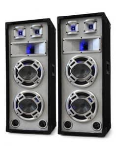 "SKYTEC Baffle blanco 2x 8""/20cm 600W LED azules"