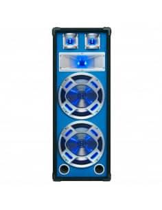 "SKYTEC Baffle 2x 10""/25cm 800W LED azules."