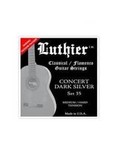 Cuerdas Luthier Concert Dark Silver LU-35