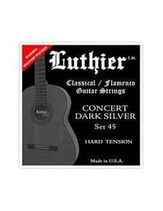 Cuerdas Luthier Concert Dark Silver LU-45 - Hard Tension