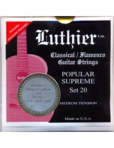 Cuerdas Luthier Popular Supreme Super Carbon LU-20SC - Tension Media