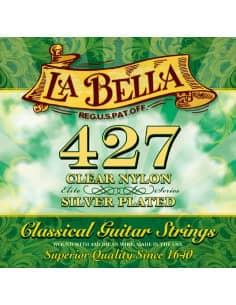 Juego de cuerdas La Bella 427 para guitarra clásica - Tensión media.