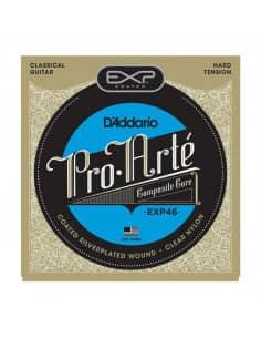 Juego de cuerdas D'Addario EXP46 para guitarra clásica. Tensión fuerte.