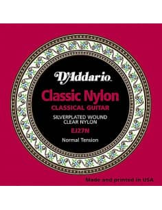 Cuerdas D'addario guitarra clasica 0.28-0.43 - EJ27N