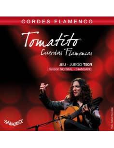 Juego de cuerdas Savarez Tomatito T50R para guitarra flamenca. Tensión media.