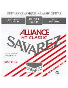 Juego de cuerdas Savarez Alliance 540R para guitarra clásica. Tensión media.