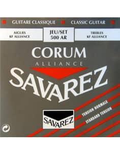 Juego de cuerdas Savarez Corum Alliace 500AR para guitarra clásica. Tensión media.