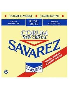 Juego de cuerdas Savarez Corum New Cristal 500CR para guitarra clásica. Tensión media.
