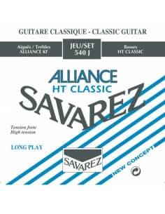 Juego de cuerdas Savarez Alliance 540J para guitarra clásica. Tensión fuerte.