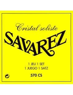 Juego de cuerdas Savarez Cristal Solista 570CS para guitarra clásica. Tensión muy fuerte.