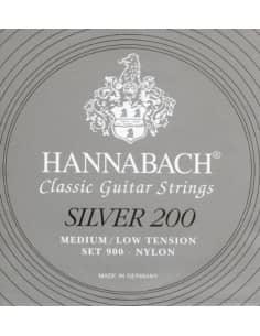 Juego de cuerdas Hannabach 900MLT para guitarra clásica. Tensión media-baja.