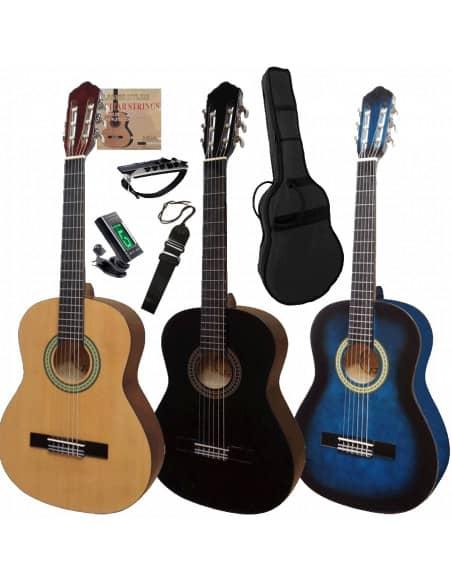 Set Guitarra Clasica Zurda 4/4  de 9 - 10 años en adelante
