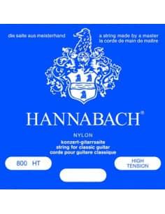 Juego de cuerdas Hannabah 800HT para guitarra clásica. Tensión fuerte.