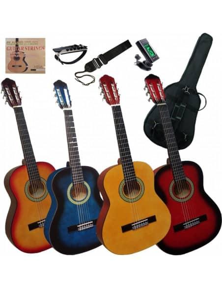 Pack de guitarra clásica 1/2 para niños 6 a 8 años aprox