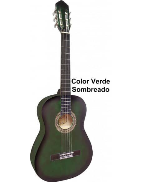 Set Pack guitarra clásica 4/4  + funda + cuerdas + cejilla + bandolera + afinador