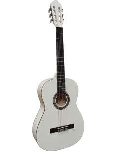Guitarra clásica C-26 blanco adulto 4/4  9 - 10 años en adelante