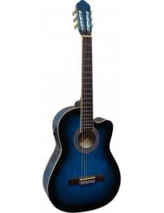 Guitarra clásica electrificada azul CK113 con cutaway