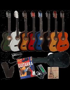 Set Guitarra clasica 4/4 adulto + Accesorios + Curso aprendizaje