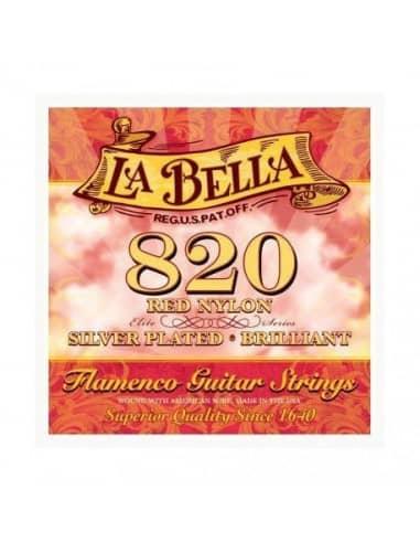 820 La Bella Roja Flamenco CUERDAS GUITARRA FLAMENCA Juego Completo