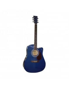 Baffin C330.650BL guitarra acústica azul con cutaway