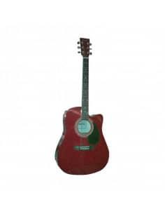 Baffin C330.650BL guitarra acústica roja con cutaway