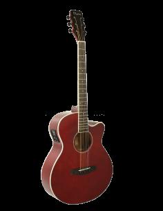 Daytona GADSTR guitarra electro acústica mini jumbo rojo