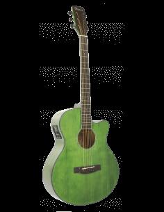 Daytona GADSTG guitarra electroacústica verde