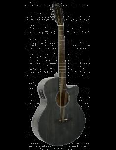 Daytona GADSTBK guitarra electroacústica negra