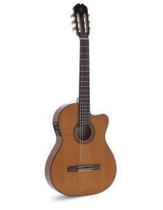 Admira Málaga ECTF Fishman guitarra electrificada caja estrecha + Funda 15mm
