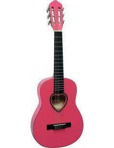Guitarra clásica rosa 1/4 para niñas 3 a 6 años