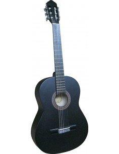 Guitarra clásica negro mate 4/4 adulto
