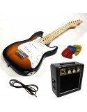Pack de guitarra eléctrica stratocaster junior niños