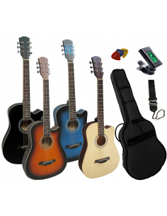 Pack guitarra acústica de cadete 3/4 con cutaway