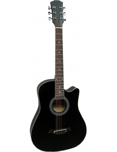 Guitarra acústica de cadete 3/4 con cutaway Negro