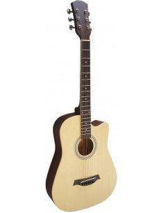 Guitarra acústica de cadete 3/4 con cutaway natural