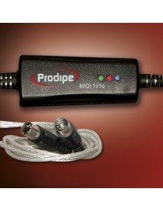 PRODIPE Micrófono MIDI-USB 1 in/1 out