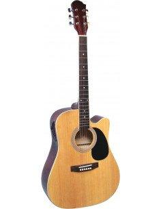 Guitarra Electroacústica natural con ecualizador a 3 bandas