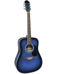Guitarra acústica de iniciación azul sombreado