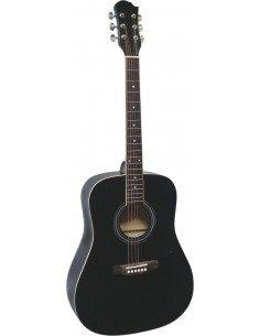 Guitarra acústica MSA de iniciación en negro brillo