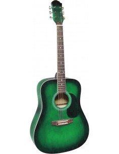 Guitarra acústica MSA tipo dreadnought verde sombreado
