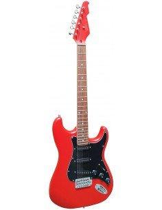 Guitarra eléctrica Vision ST5RM rojo mate stratocaster