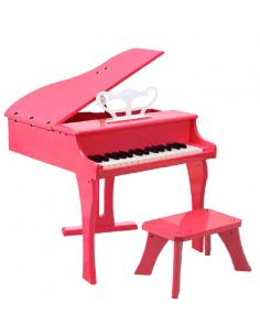 Piano de cola infantil PP30KPK rosa con banqueta